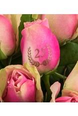 Magic Flowers Boeket 15 rozen - Roze - 25