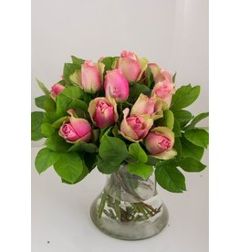 Magic Flowers Boeket 15 rozen - Roze - 25