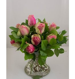 Magic Flowers Boeket 9 rozen - Roze - 25