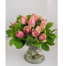 Magic Flowers Boeket 15 rozen - Roze - Love you