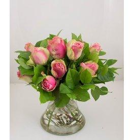 Magic Flowers Boeket 9 rozen - Roze - Zie je graag