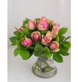Magic Flowers Boeket 15 rozen - Roze - Zie je graag