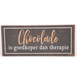 Chocolade is goedkoper dan therapie