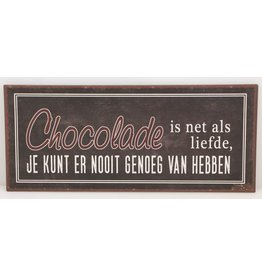 Chocolade is net als liefde