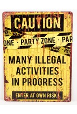 Caution party zone
