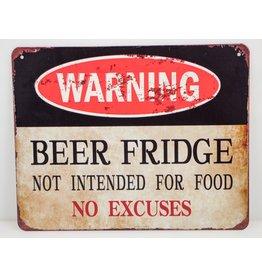 Warning beer fridge