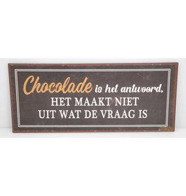 Chocolade is het antwoord