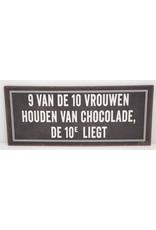 9 van de 10 vrouwen houden van chocolade