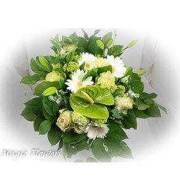 Magic Flowers Boeket Wit - Groen XL