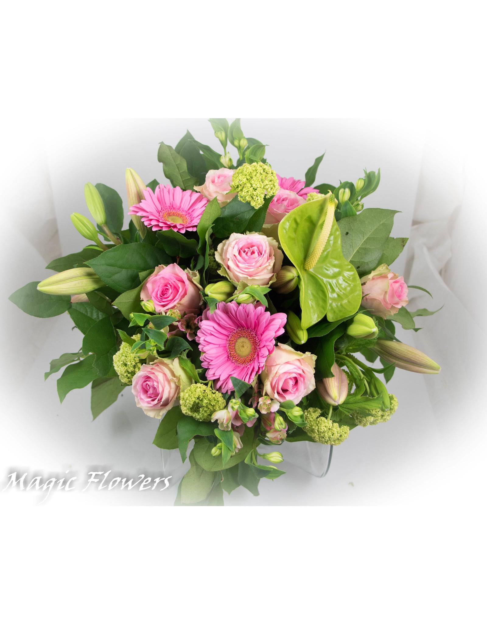 Magic Flowers Boeket Roze XL