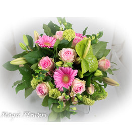 Magic Flowers Boeket Roze XL