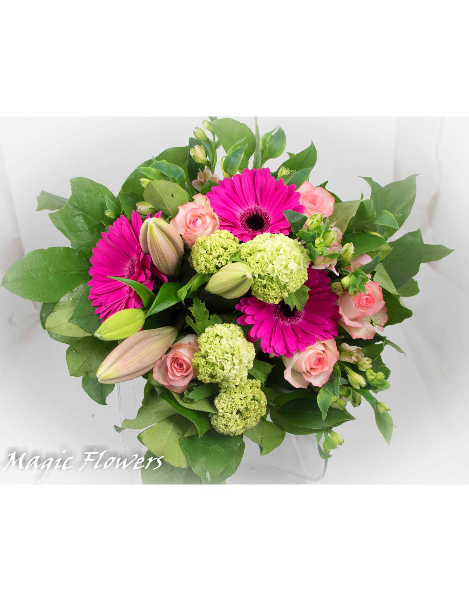 Magic Flowers Boeket Roze - Wit Medium