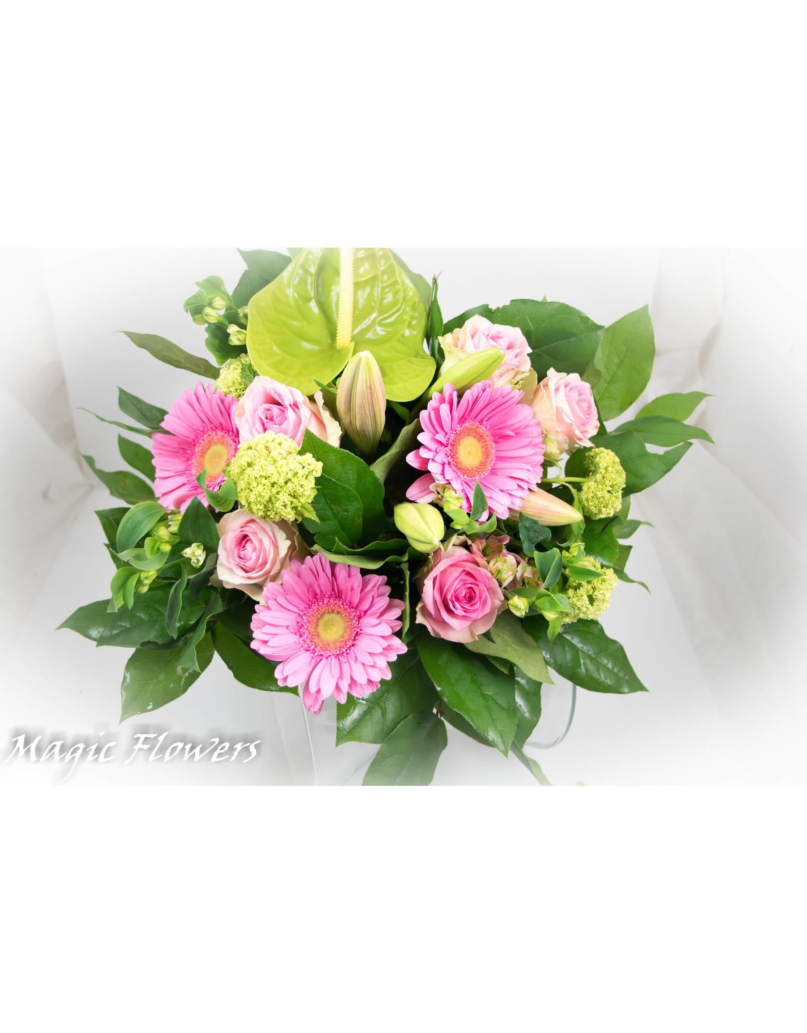 Magic Flowers Boeket Roze Medium