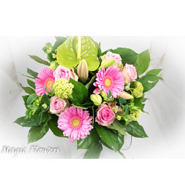 Magic Flowers Boeket Roze Medium