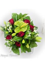 Magic Flowers Boeket Rood - Wit Medium