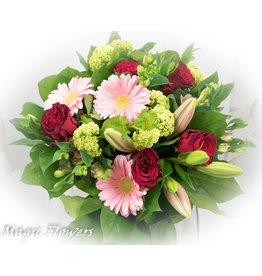 Magic Flowers Boeket Rood - Roze Medium