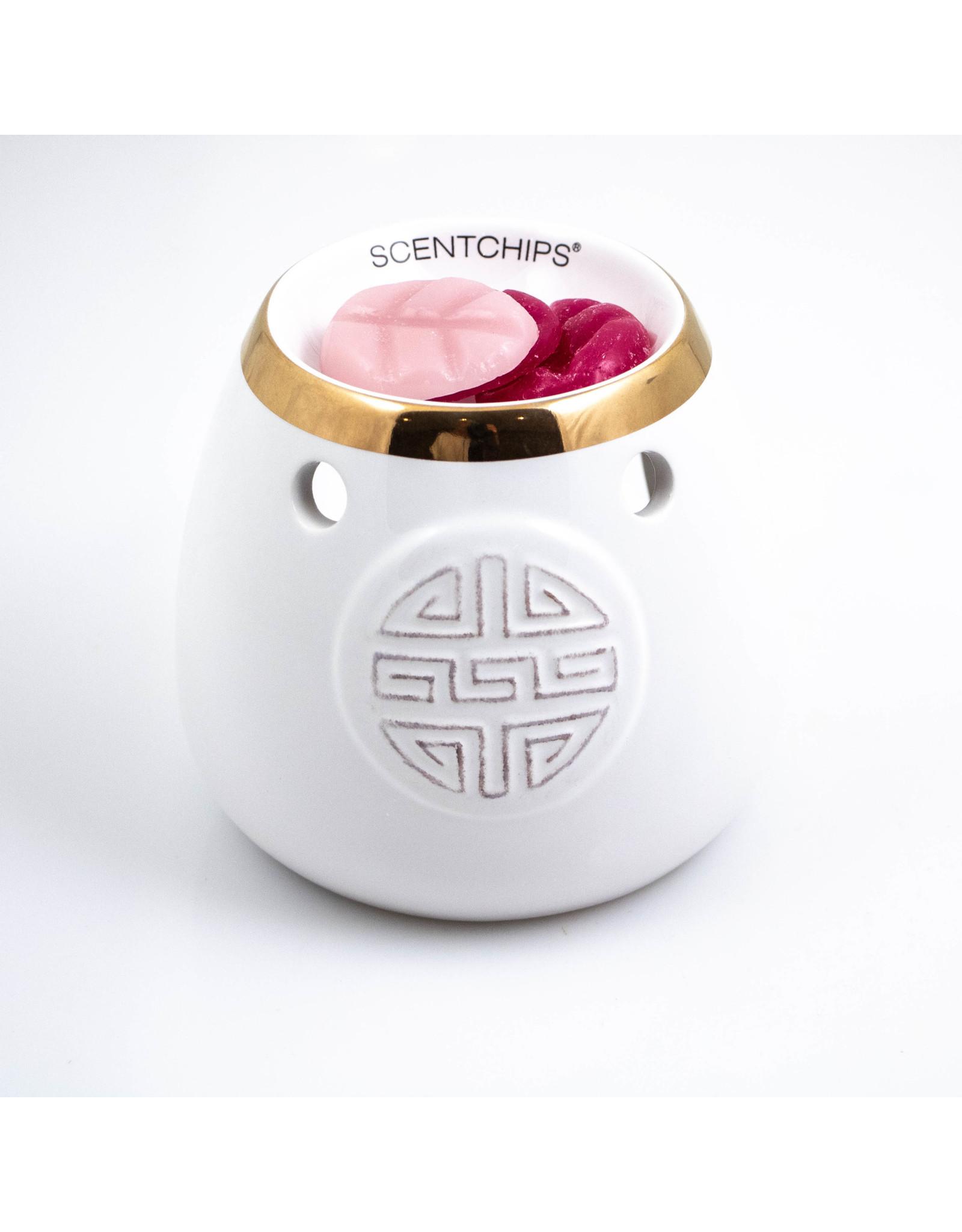 ScentBurner Bowl White/Gold