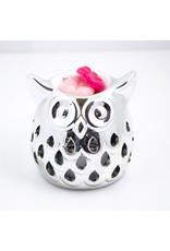 ScentBurner Owl Cut Out Silver