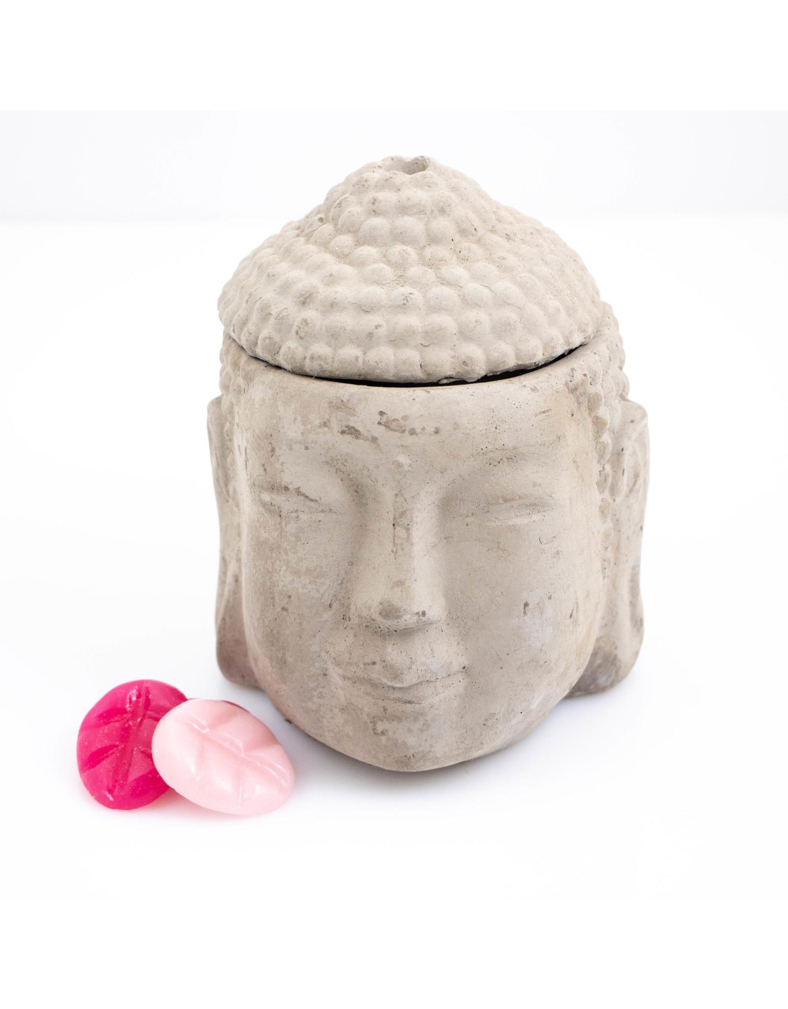 ScentBurner Buddha Head Concrete Grey
