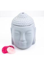 ScentBurner Buddha Head Matt Grey