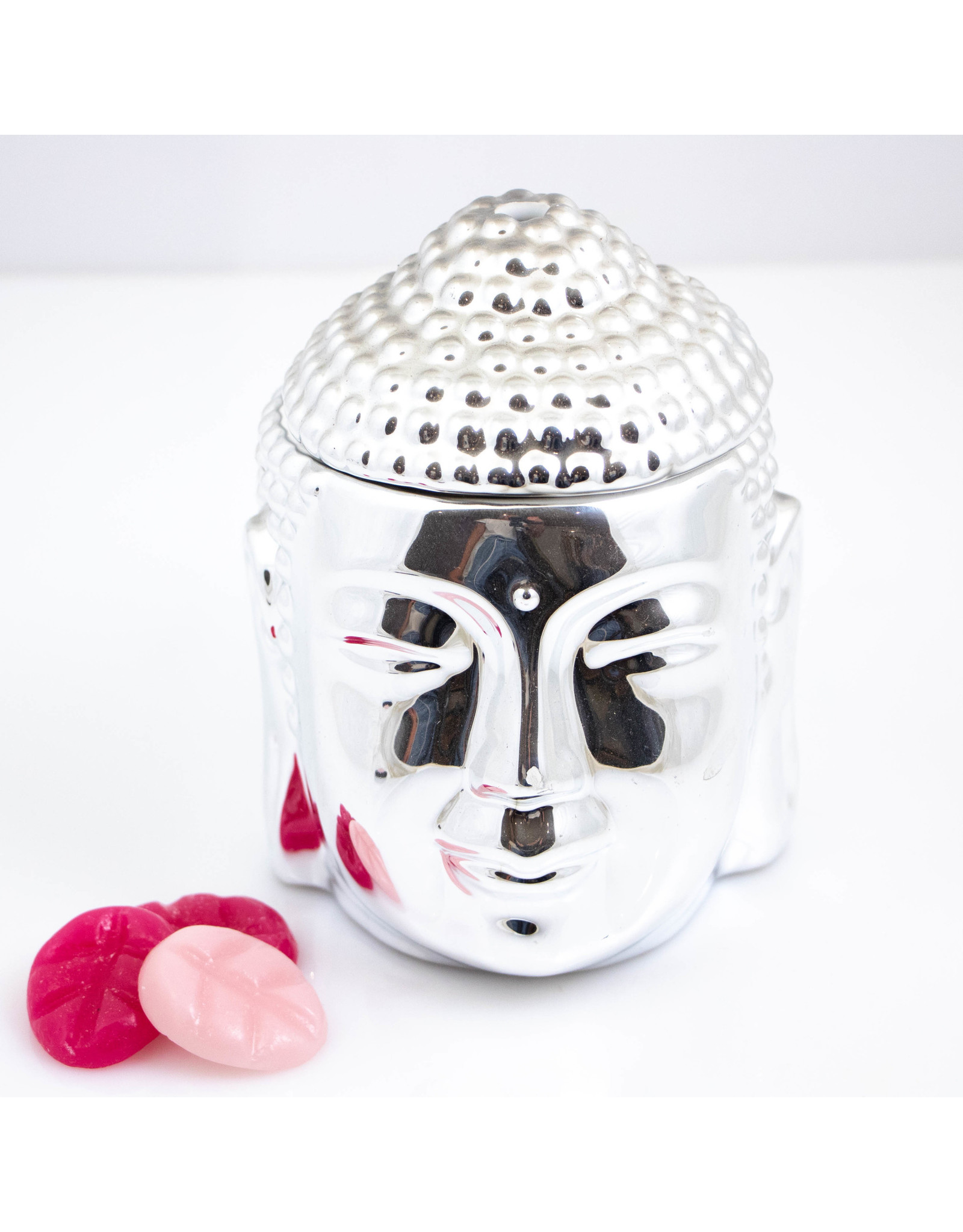 ScentBurner Buddha Head Silver