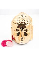 ScentBurner Buddha Head Gold