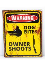 Warning dogs bites