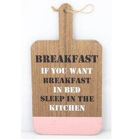 Breakfast sleep in the kitchen