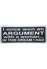 I once won an argument