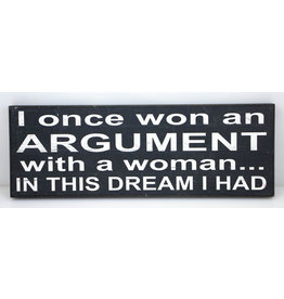 I once won an argument