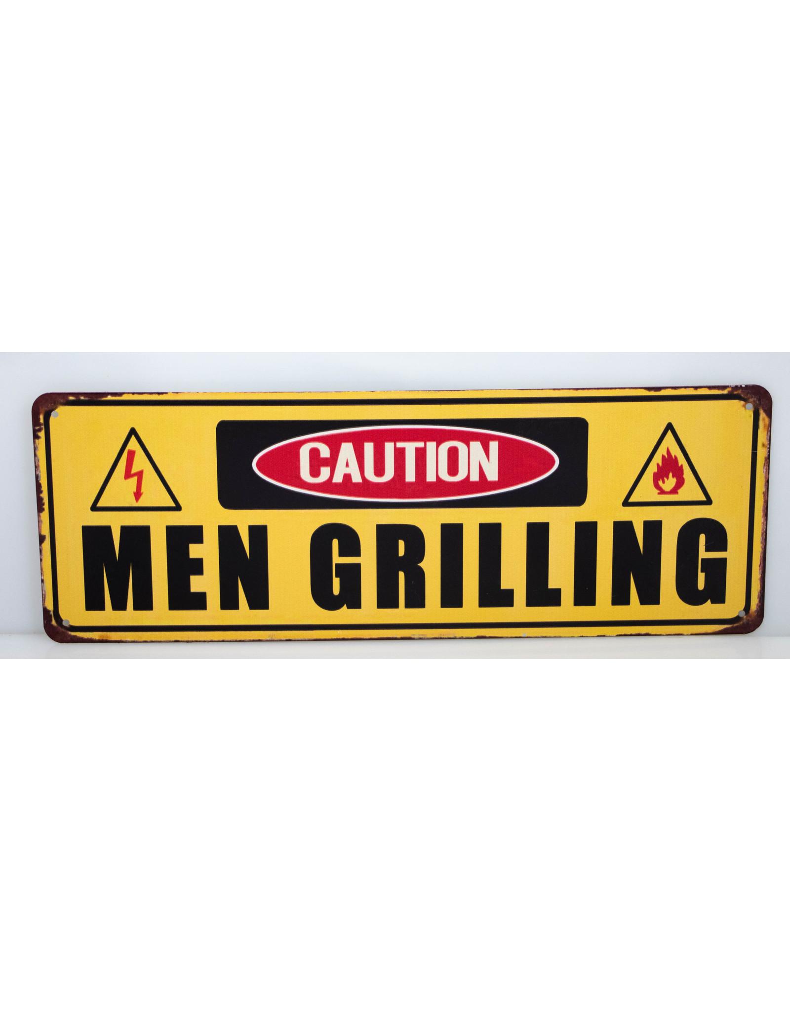 Men grilling