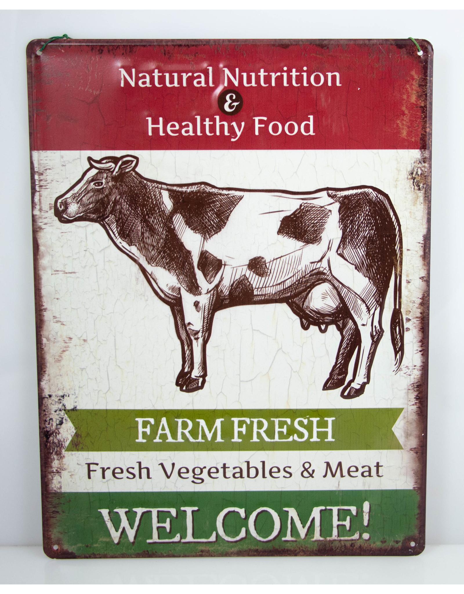 Farm fresh cow