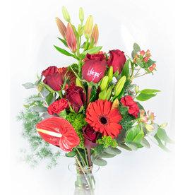 Valentine Wild Flowers met druk