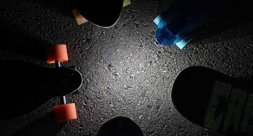 Shredlights skateboard lights