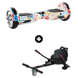 Hoverboard Hoverboard Graffiti Wit 6,5 inch