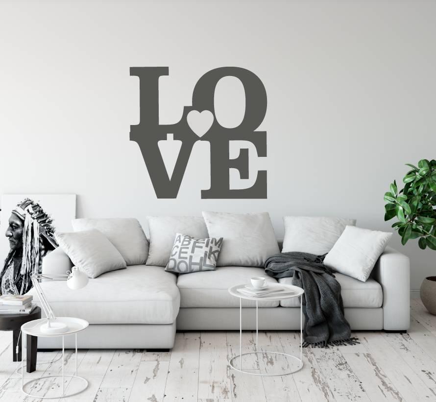 Muurstickers Slaapkamer Love.Muurtekst Love Smartstickers