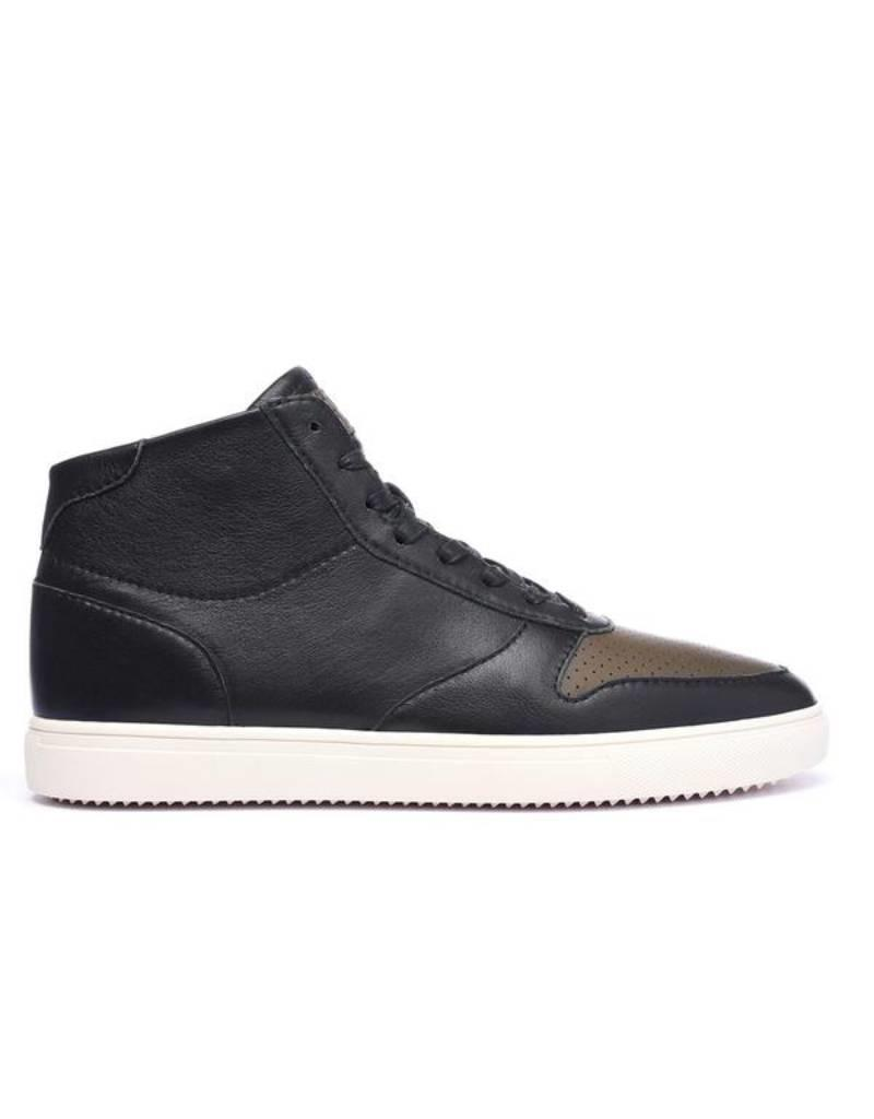 Clae Gregory Mid Black full Grain Leather Olive
