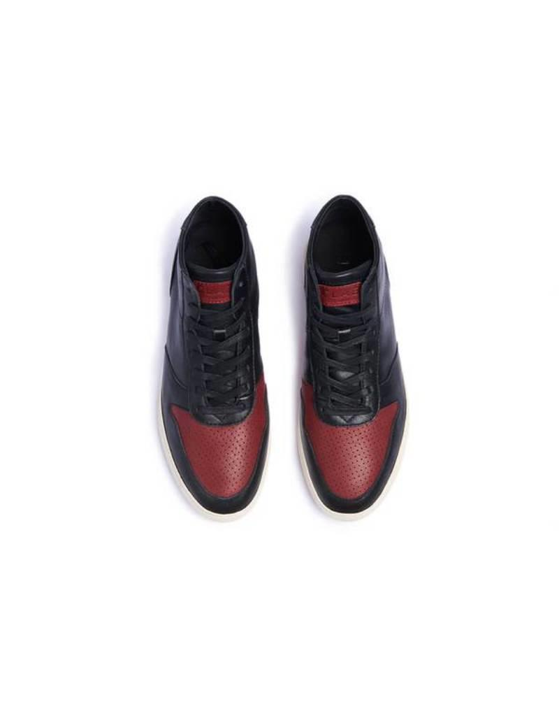 Clae Gregory mid Black full grain Leather Merlot