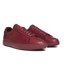 Clae Bradley Merlot Full grain Leather