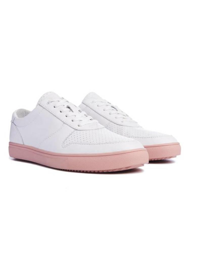 Clae CLAE Gregory White Milled Leather Rose