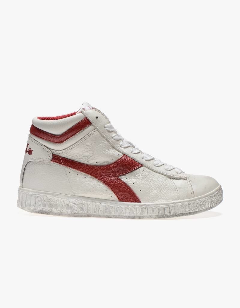 Diadora Game L High Waxed White / Red Pepper