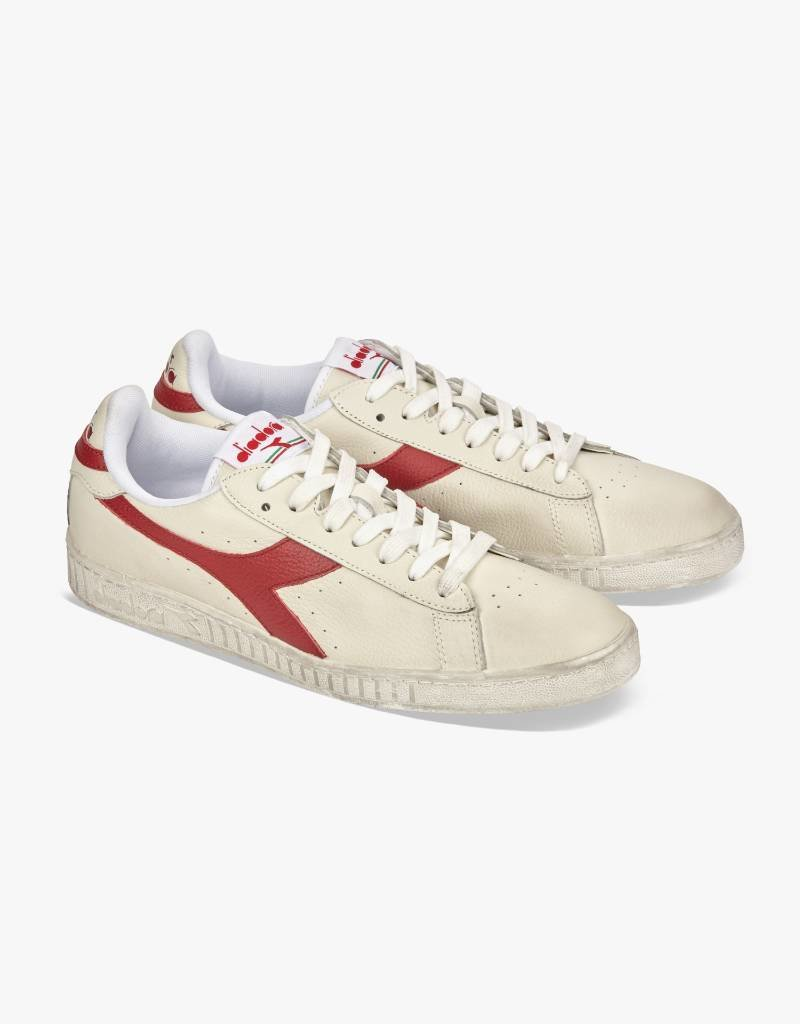 Diadora Game L Low Waxed White / Red Pepper