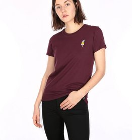 Iriedaily Ice Beanie Tee - Red wine
