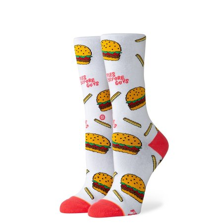 Stance Fries B4 guys crew White (Medium)