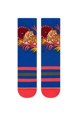 Stance Tiger belly crew Cobalt blue (Medium)