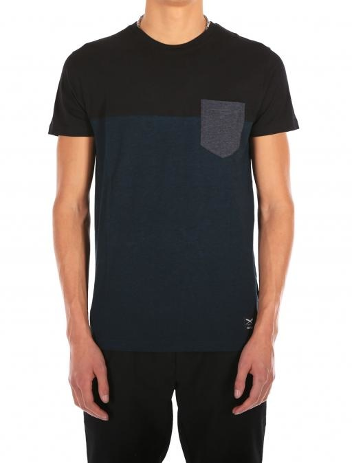 Iriedaily Block Pocket Tee - Deep lake