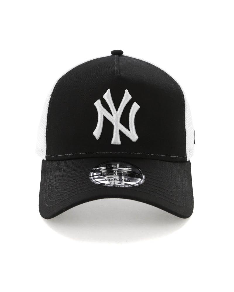 NY 9Forty Trucker Black/White-1