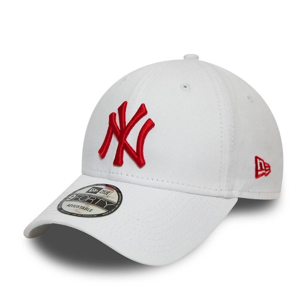 NY 9Forty White/Red adjustable-1