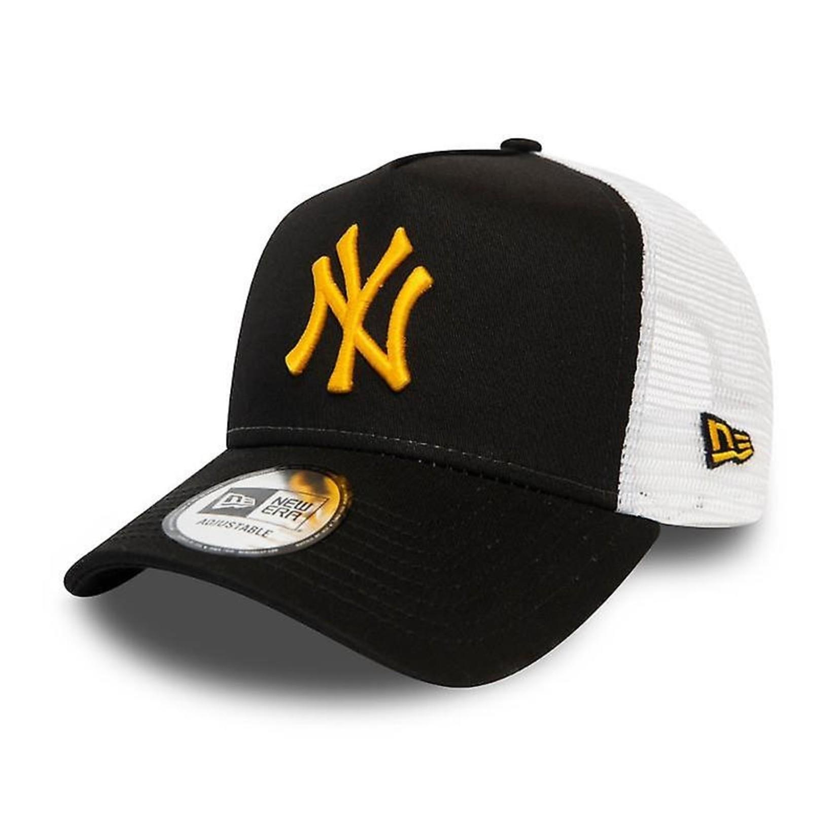 New Era NY Trucker Black/Yellow adjustable