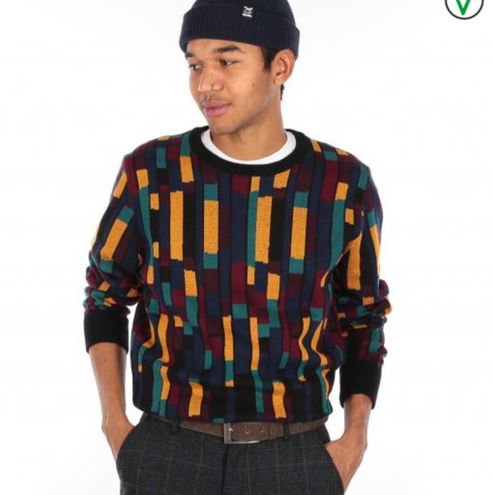 Iriedaily Patcheo Knit Navy Red